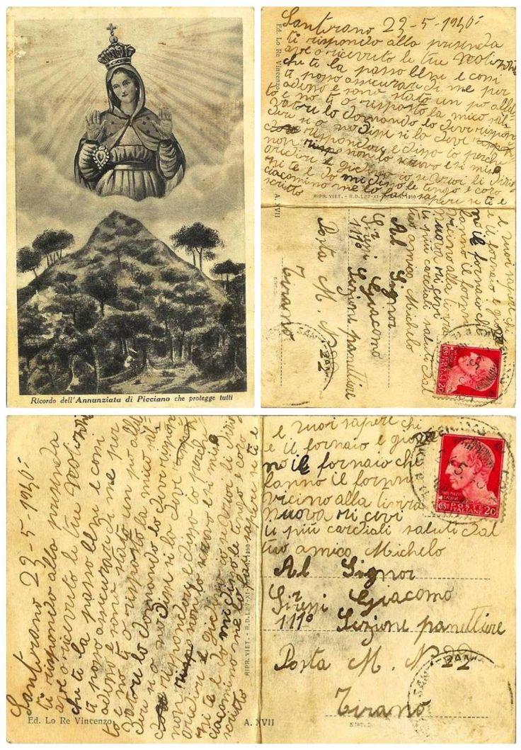 Una cartolina del 1940: da Santeramo in Colle a Tirana. Quando le cartoline non erano un saluto frettoloso, distratto, ma racconti per chi attendeva messaggi, notizie, conforto.