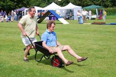 redneck party games wheelbarrow races