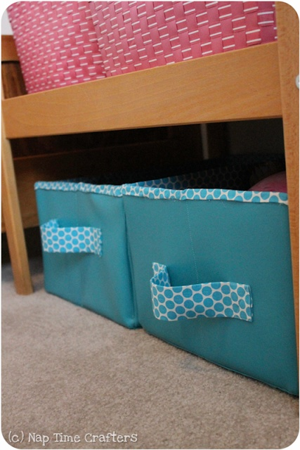 Nap Time Crafters Collapsible Storage Bins Tutorial