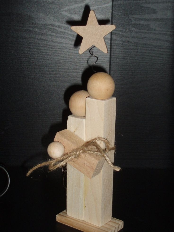 Baby Jesus Crafts | Wood Scrap Mary, Joseph & Baby Jesus, Christmas Crafts ... | crafts--wonder if you could make these out of Jenga pieces?