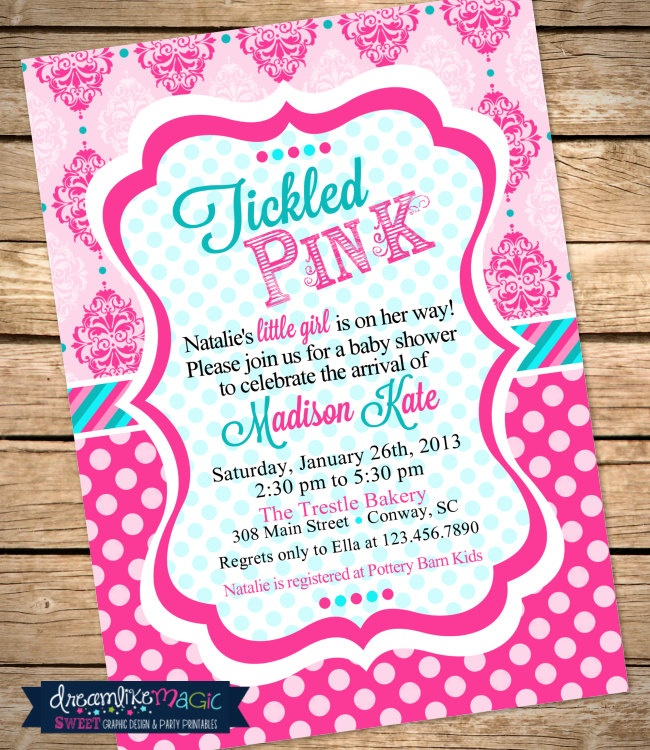Tickled Pink Baby Shower Invitations – diabetesmang.info