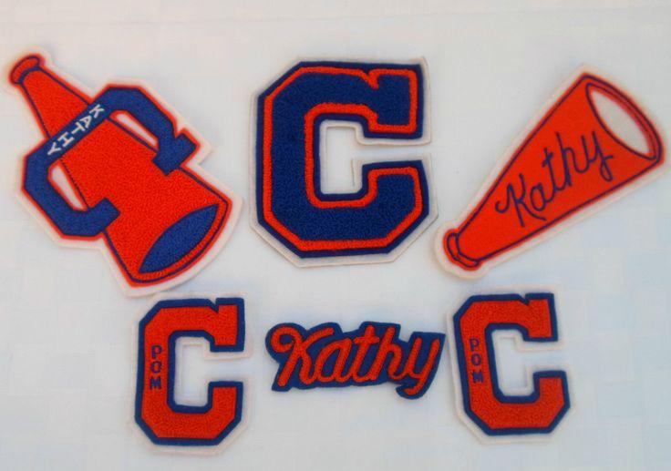 Lot of 6 Vtg Cheer Leading Patches Varsity Letterman Jacket Patch Emblem Kathy | eBay