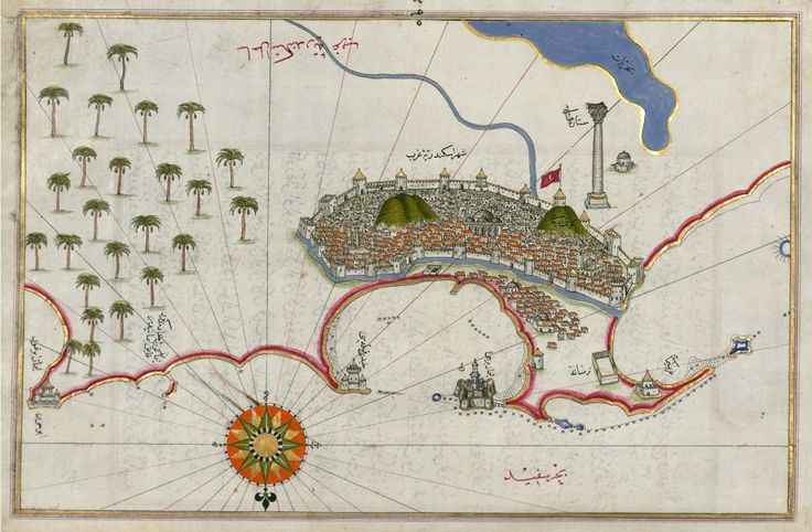 The Maps of Piri Reis - Map of the City of AlexandriaThe Public Domain Review