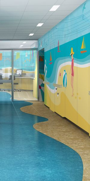 Beautiful BAM Studio Designed This Beautiful, Beach Like, Retreat For Patients In The  Pediatric MRI