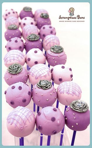 Indian Wedding Inspirations: Purple Wedding Cake Pops. Repinned by #indianweddingsmag IndianWeddingsMag.com