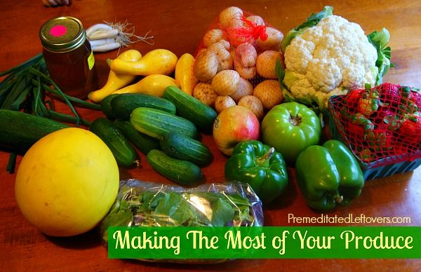 How to Make Your Produce Last Longer - things you can do to stretch your dollar and make your produce last longer and avoid food waste.