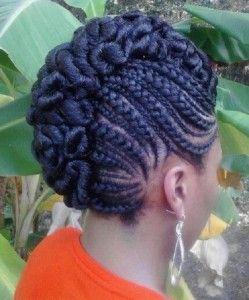 african braid updo styles