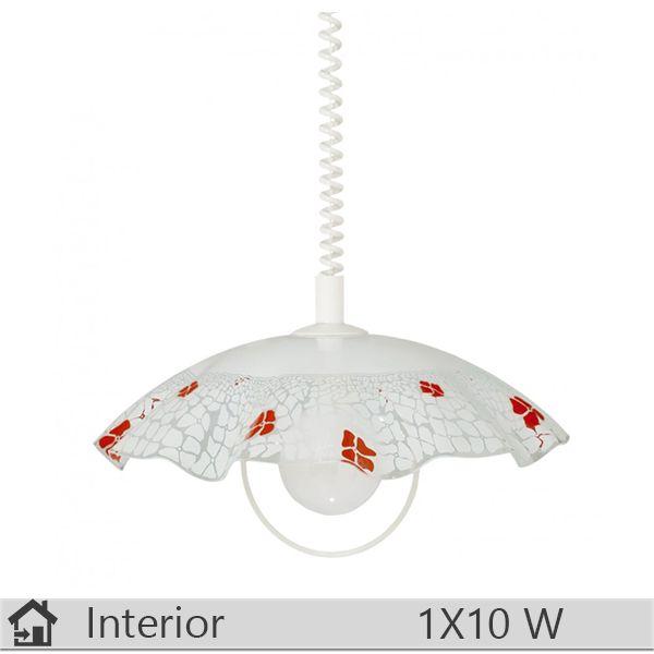 Pendul iluminat decorativ interior Klausen, gama Lucy, model D400 D Rosu