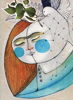 Ilustración para libreto Ismael Serrano. Mar Blanco www.marblanco.com