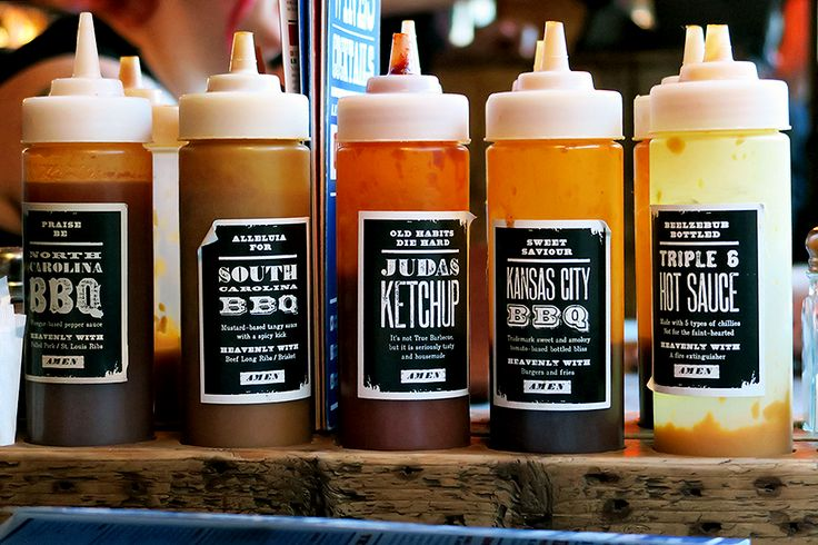 Review of Red's True Barbecue Leeds, 2015 - Sauces