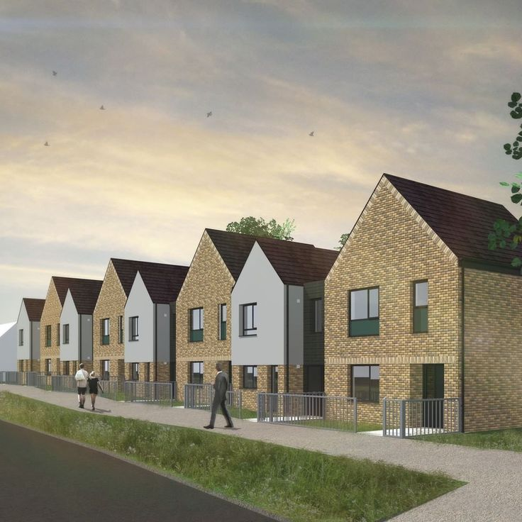 Hewitson Road starts on site! JMA housing, buff brick and render, terrace housing