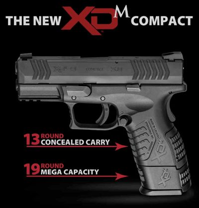"Springfield Armory XD(M) Compact. 3.8"" of awesome power!"