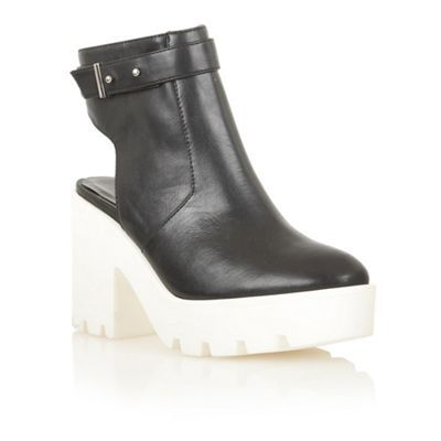 Dolcis Black/white 'Cologne' chunky ankle boots- at Debenhams.com