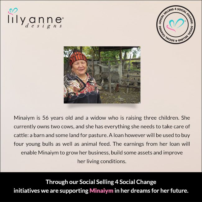 We are changing the world... one woman at a time. We believe that when women are empowered, so too are families; communities; the world. When you partner with Lily Anne Designs® you are empowering another woman in a developing country. Read Minaiym's story... #LilyAnneDesigns #SocialSelling #ChangingTheWorld