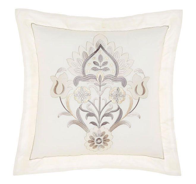 Linen House Classic Arya 45x45cm Filled Cushion Antique White
