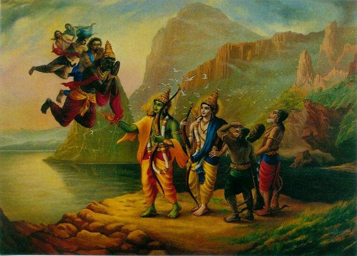 Character Design Hanuman : Vibhisan ravana s brother surrendering to lord rama