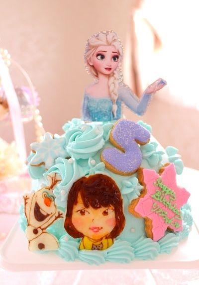 エルサのドールケーキ エルサ似顔絵コラボ by あやもこさん | レシピ ...