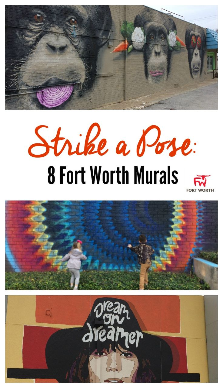 Strike a Pose: 8 Fort Worth Murals  Move aside Pokemon Go. What you should be trying to catch are the beautiful murals found throughout Fort Worth. Several city walls are becoming a canvas for local artists to share their interpretations of life, beautifying Cowtown along the way. Katie Murray, artist and co-owner of The Art Room Gallery, shares how one of the newer installations, the Dreamer Series, came to grace the city's landscape. #SeeFortWorth # AD