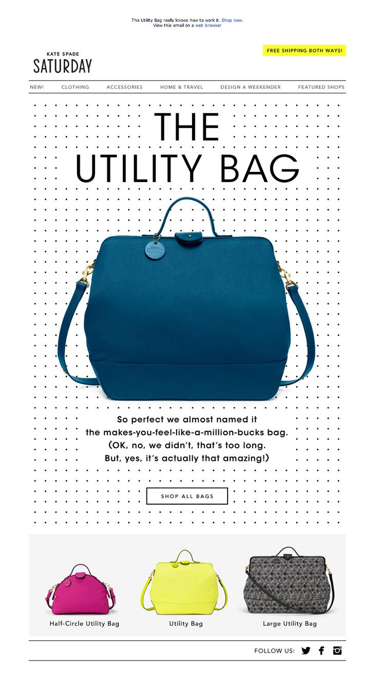 #newsletter Saturday 09.2013 subject:  In a bag mood? Look at this incredible one.