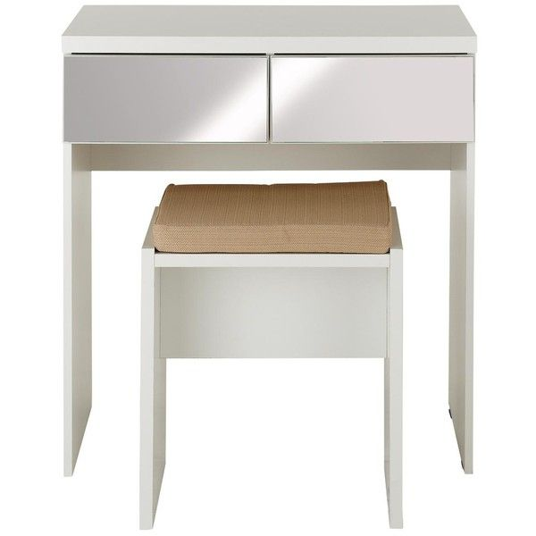 Prague Mirror Dressing Table And Stool ($235) ❤ Liked On Polyvore Featuring  Home,