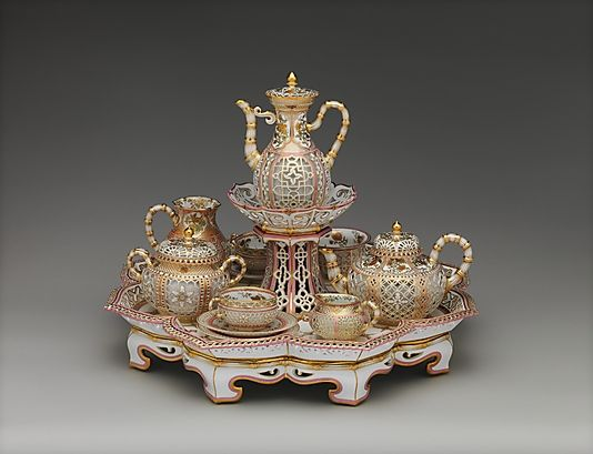 Sèvres Manufactory French 1740 Present Coffee And Tea Service Déjeuner