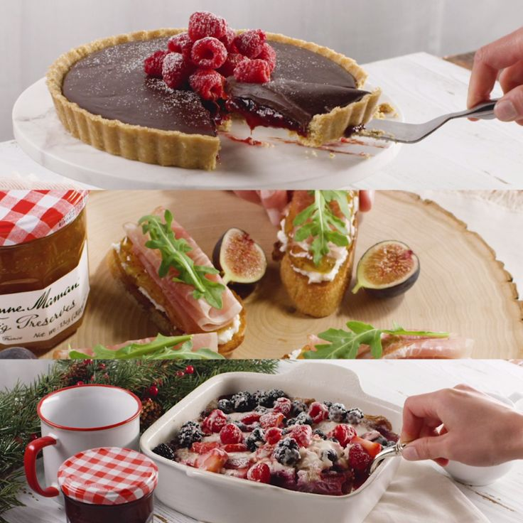 From an overnight breakfast bake, to an afternoon appetizer and a Christmas Day no-bake dessert – these quick and easy recipes are the perfect way to fill your day with our Bonne Maman Preserves. 'Tis the season for homemade treats and delicious family festivities!