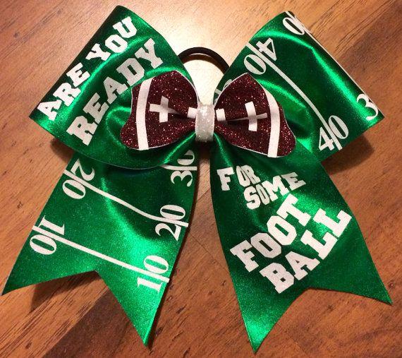 Cheer bows football