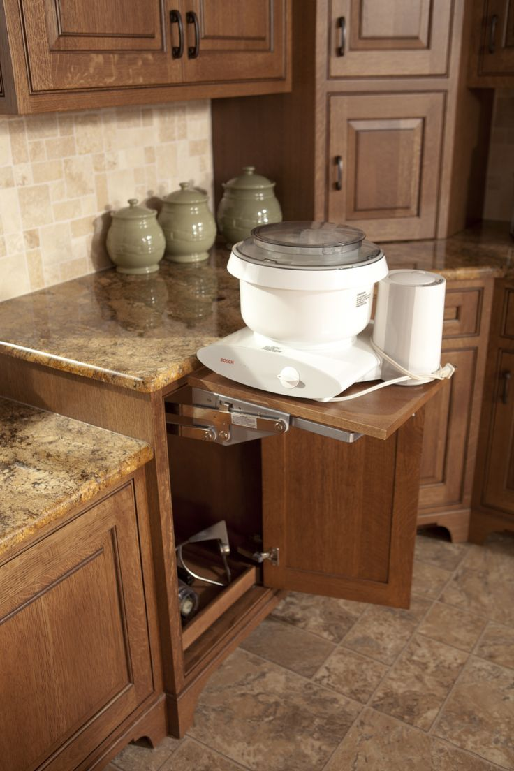 43 best kitchens images on pinterest home kitchen ideas and hide away for your mixer amish cabinet
