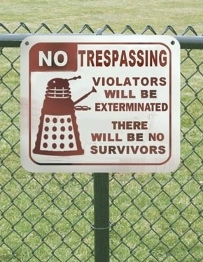 """""""No Trespassing"""" sign for geeks"""