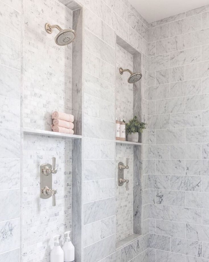 Dual Shower Heads With Images Bathroom Remodel Master Shower