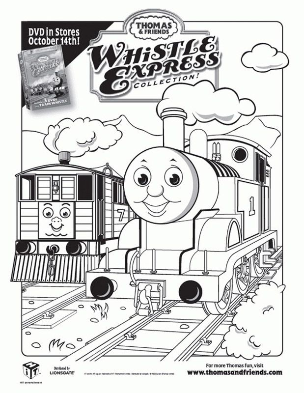 print out pictures of toby the tram engine thomas the train and friends coloring pages for boys printable coloring pages for kids - Thomas Friend Coloring Pages