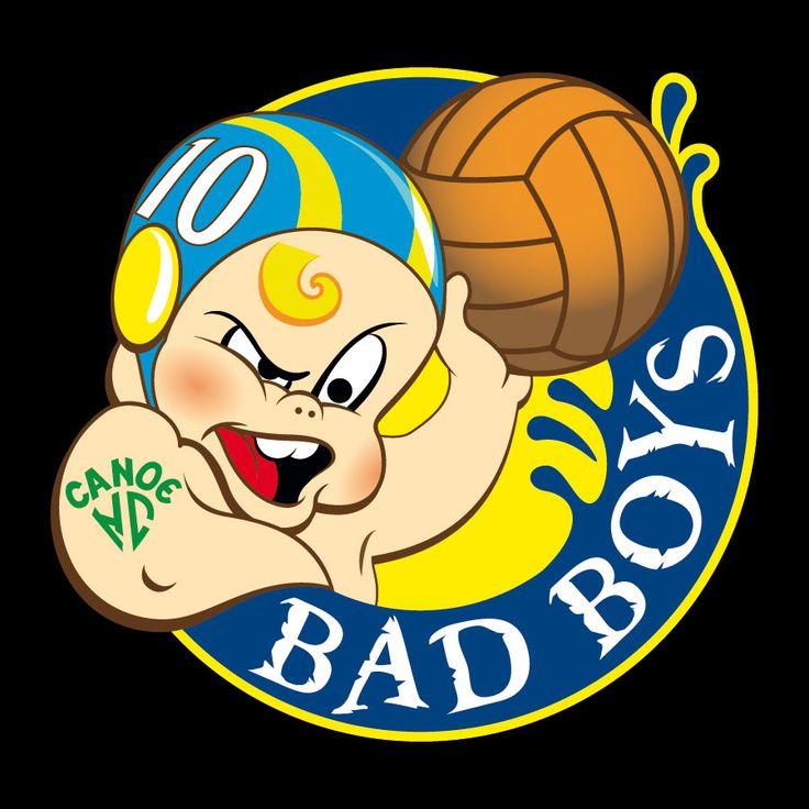 """Mascota para equipo de waterpolo """"Bad boys"""" del Canoe NC utilizada como logotipo por uno de los equipos infantiles y realizada en formato vectorial."""