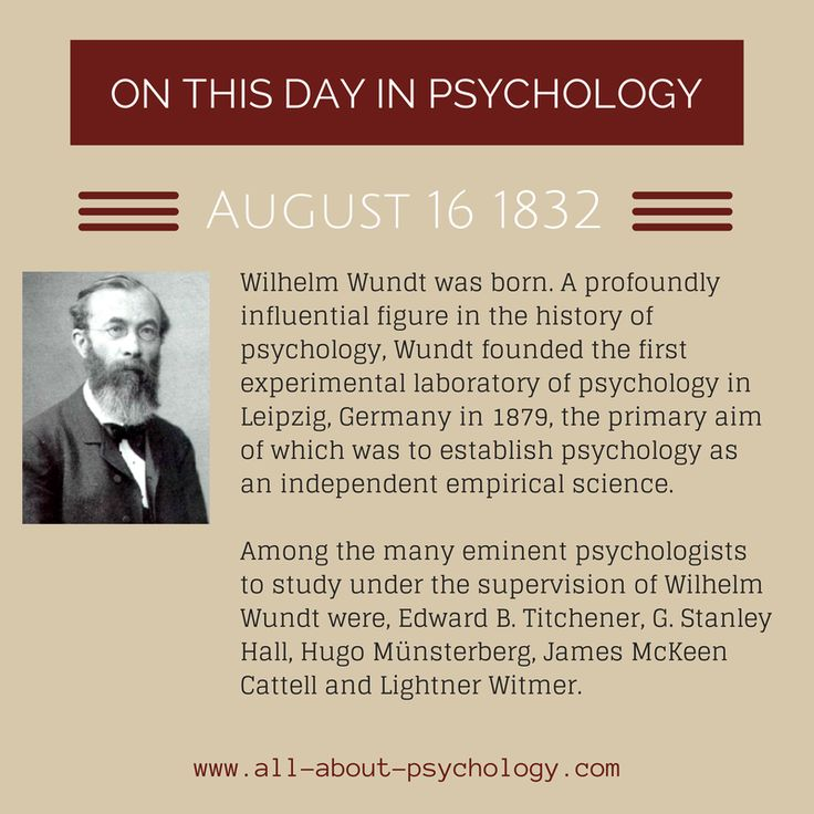 16th August 1832. Wilhelm Wundt was born. A profoundly influential figure in the history of psychology, Wundt founded the first experimental laboratory of psychology in Leipzig, Germany in 1879, the primary aim of which was to establish psychology as an independent empirical science. #psychology