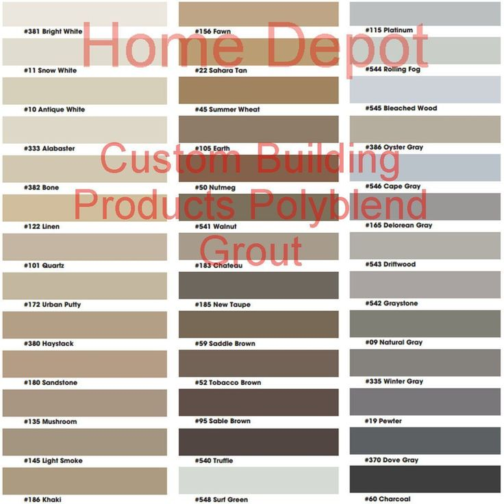 Grout Color Chart Keninamas