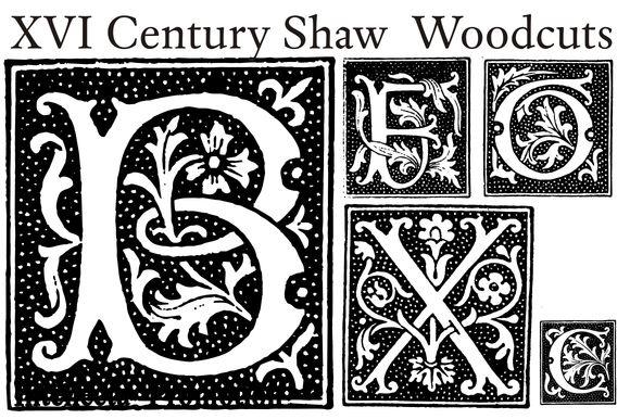 XVI Century Shaw Woodcuts by Intellecta Design on Creative Market