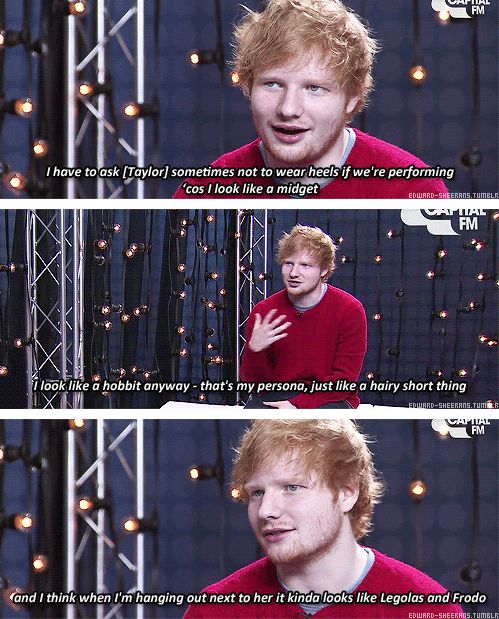 Oh my gosh, Ed, I didn't think it was possible for me to love you more than I already do, but then this happened.