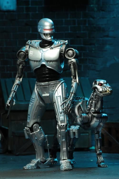 Hell yeah! Endocop Terminator and dog figures by Neca! Based in the comic by Frank Miller and Walt Simonson. Perfect for army building the crap out of them. Preorders are up now at:  BBTS: http://www.bigbadtoystore.com/Product/VariationDetails/56244?utm_source=youtube&utm_medium=link&utm_campaign=hunterknight4