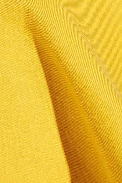 Rosie Assoulin - Bearded Iris Peplum Cotton-twill Wide-leg Pants - Marigold - US8
