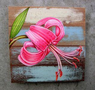 bloemen schilderij sloophout B44