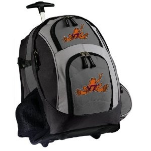 Virginia Tech Peace Frog Rolling Backpack Deluxe Gray - Our Best Backpacks Bags with Wheels or School Trolley Bags Suitcase Carry-Ons - Unique Gifts (Apparel)  http://www.99homedecors.com/decors.php?p=B005GWHVIQ  B005GWHVIQ