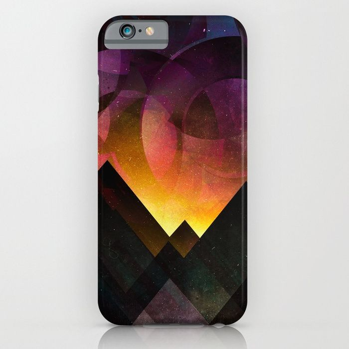 Whimsical mountain nights iPhone & iPod Case by HappyMelvin | Society6