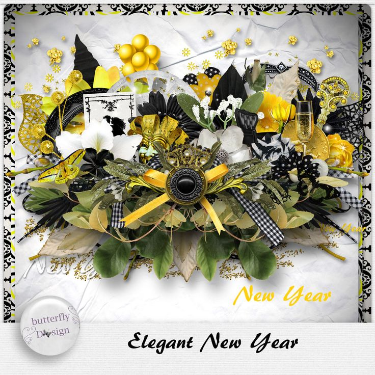 Digital Art :: Kits :: Elegant New Year [Page kit] by butterflydsign