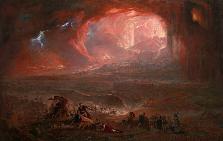 John Martin's The Destruction of Pompeii and Herculaneum restored