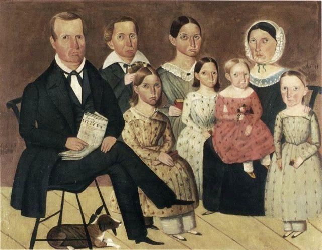 Sheldon Peck (American painter, 1797-1868) The John G. Wagner Family: