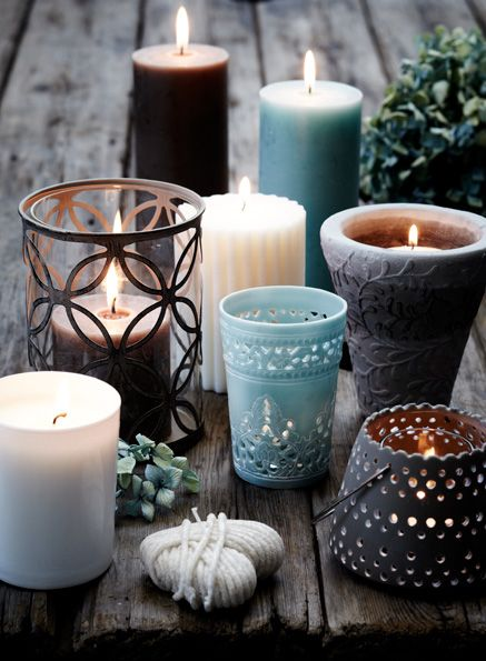 candles and candle holders - woondecoratie