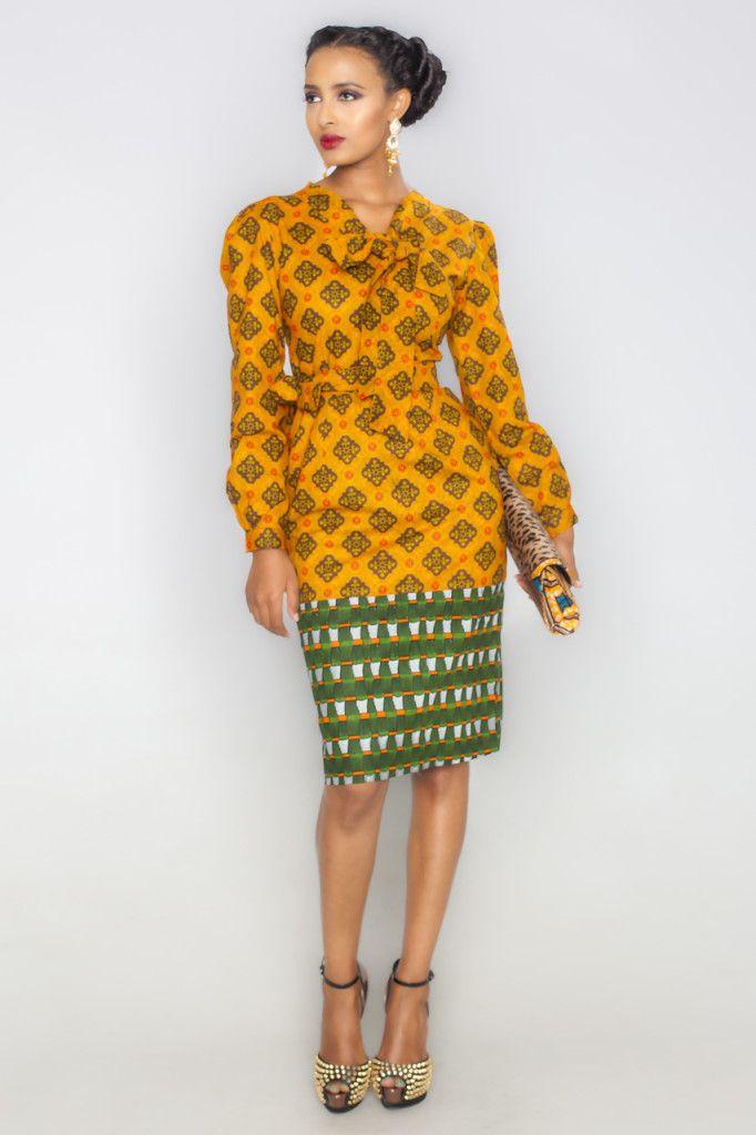 Sanaa Aku Dress Latest African Fashion African Prints African Fashion Styles African