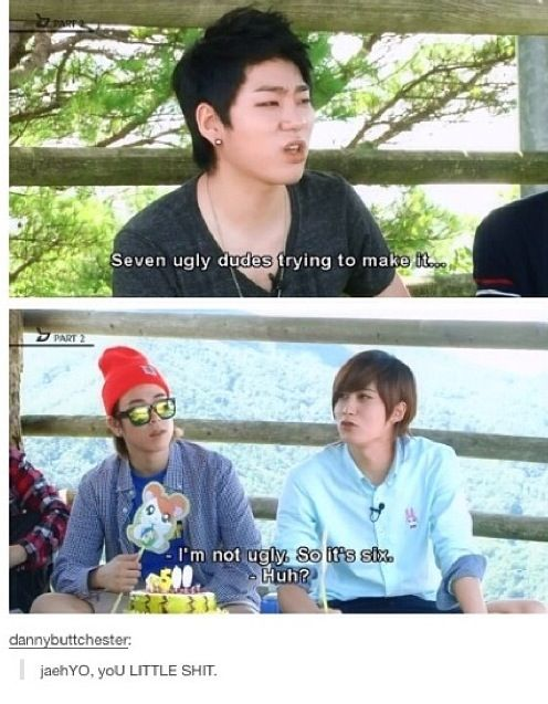 Oh, Jaehyo.... And U-Kwon is not ugly! He's not extraordinarily good-looking, but that's beside the point!
