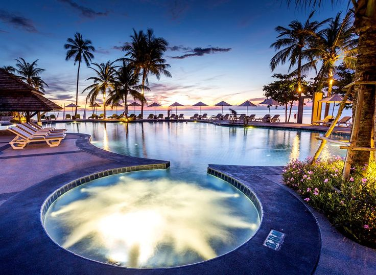 £113 The luxurious Nora Beach Resort & Spa is surrounded by tropical gardens, enjoying a peaceful location just 5 minutes' by free shuttle to Chaweng Beach.