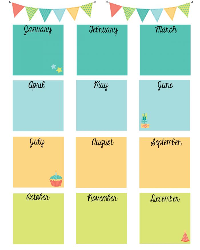 25 Best Ideas About Birthday Calendar On Pinterest