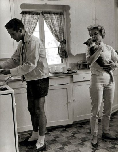 """Paul Newman & Joanne Woodward. Married 50 years. He was quoted: """"why fool around with hamburger when you have a steak at home?"""""""